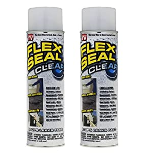 Flex Seal Clear Set of 2 Cans, spray stuff thick 14 OZ