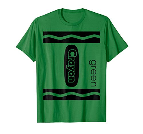 Green Crayon Halloween Couple Friend Group Costume T-shirt