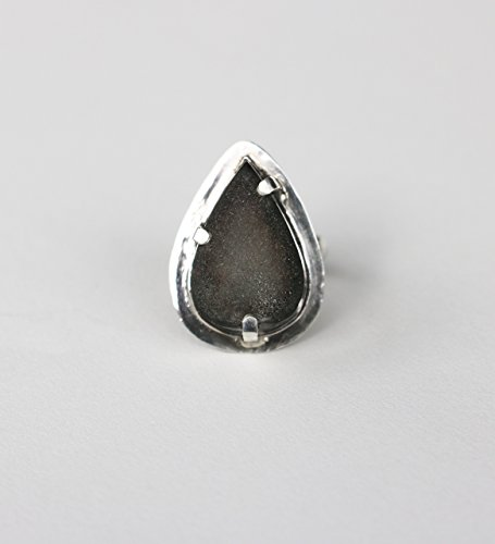 Black Onyx Drusy Sterling Ring
