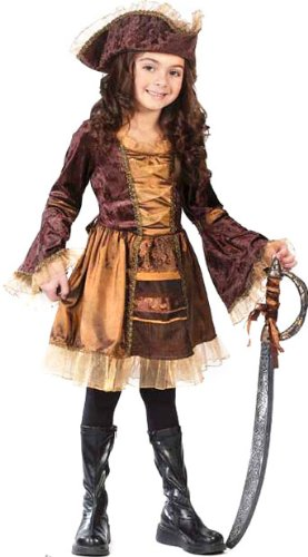 Girl's Sassy Victorian Pirate Costume (Little Girls Pirate Costume)