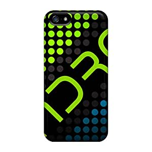 Iphone 5/5s Case Cover - Slim Fit Tpu Protector Shock Absorbent Case (android Dots)