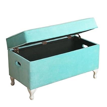 Gentil HomePop Diva Decorative Storage Bench Aqua