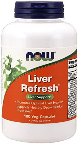 Now Supplements, Liver Refresh™ with Milk Thistle Extract and Unique Herb-Enzyme Blend, 180 Veg Capsules