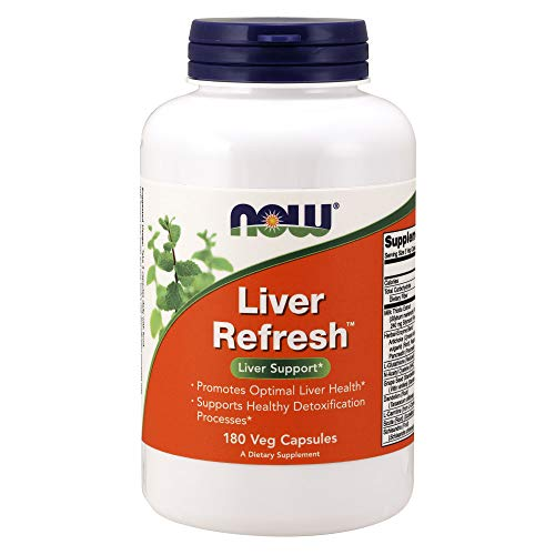 Now Supplements, Liver RefreshTM with Milk Thistle Extract and Unique Herb-Enzyme Blend, 180 Veg Capsules