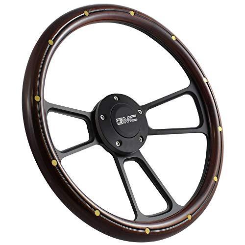 Gmc Steering Wheel - 1974-1994 GMC Pick Up, Suburban, Jimmy Wood Steering Wheel + GMC Horn + Adapter