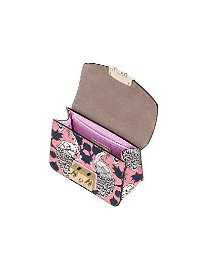 Mujer Bolso Rosa 920325 Furla Cuero Hombro De dUnfU7