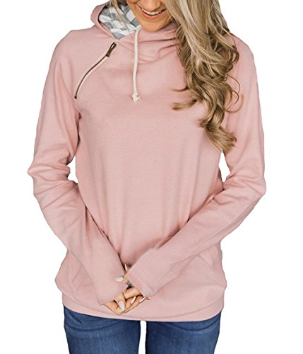 et Jumpers Automne Blouse Printemps Manches Pulls Longues Casual Rose Legendaryman Hauts Capuche Tops Mode Shirts Sweat Sweats Femmes Pullover Shirts 45qwSvz