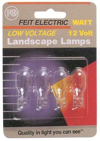 Feit Electric BPLV522/4/RP 11 Watt Low Voltage Landscape Light Bulbs 4 Count