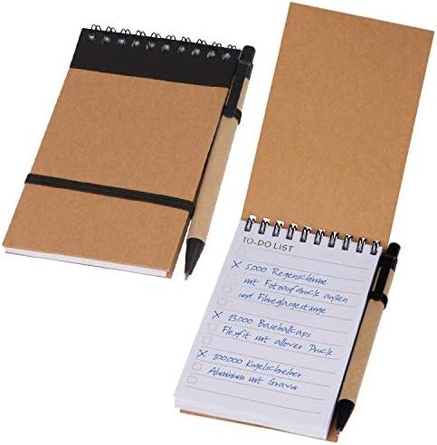 5x Schreibset / Kugelschreiber und Spiral-Notizbuch mit