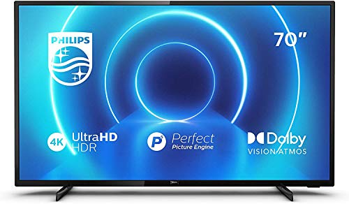 Philips 70PUS7505/12 de 70 pulgadas (4K UHD, P5 Perfect Picture Engine, Dolby Vision, Dolby Atmos, HDR 10+, Saphi Smart…