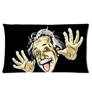 Custom Unique Design Funny Albert Einstein Rectangle 16x24 Inch Two Sides Facial/Skin Care Pillowcase Pillow Covers