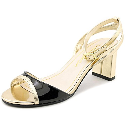 Open Formal Womens Sandals Strap belize gold Black Toe Caparros Ankle qE6Iwwd