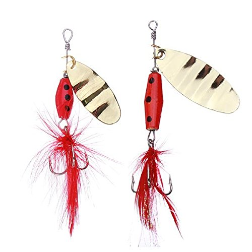 Sports & Outdoor - Spoon Lures Bass Lures Sequin Treble Hook Bait - Low-Pitched Sweetener Deep Low Cod Come-On Sea Thread Maker Lure Freshwater Tease Part Rag Basso Spinster Decoy - 1PCs