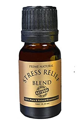 Stress Relief Essential Oil Blend 10ml - 100% Natural Pure Undiluted Therapeutic Grade for Aromatherapy, Scents & Diffuser - Depression, Anxiety Relief, Relaxation, Boost Mood, Uplifting, Calming