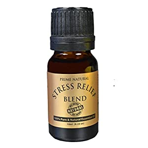 41dLaWICXPL. SS300  - Stress Relief Essential Oil Blend 10ml - 100% Natural Pure Undiluted Therapeutic Grade for Aromatherapy, Scents & Diffuser - Depression, Anxiety Relief, Relaxation, Boost Mood, Uplifting, Calming