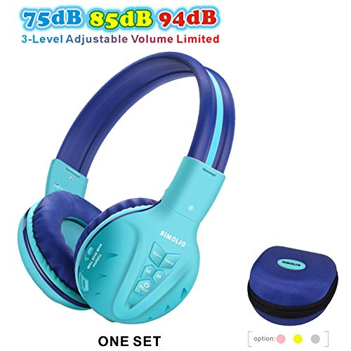 SIMOLIO Kids Wireless Headphones with Volume Limited, Kids Headphones Bluetooth for Hearing Protection, Child Wireless…