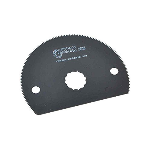 Versa Tool SB1I-D 80mm HSS Semi-Circular Multi-Tool Saw Single Blade Display Pack Fits Fein Multimaster, Rockwell, Sonicrafter, Makita Oscillating Tools by Versa-Tool