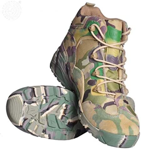 メンズ砂漠の戦闘ブーツは、快適な通気性の高いヘルプレースアップスタイルの登山靴滑り止め耐摩耗ラバーソールデニム (色 : マルチカラー, サイズ : 27 CM)