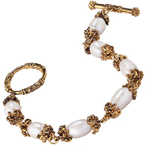 Stauer Women's Sherwood Forest Freshwater Cultured Pearl Bracelet (7.5 Inches)