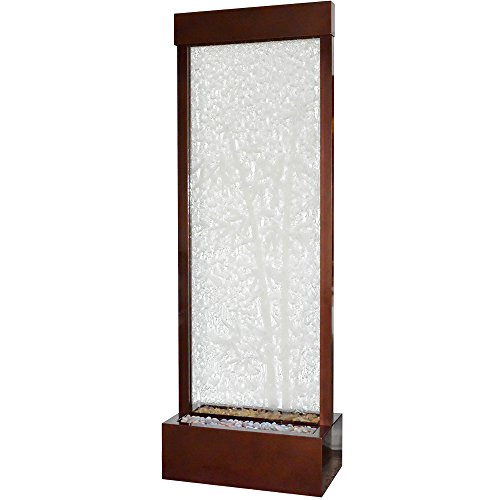 BluWorld Towering 8' Dark Copper Gardenfall with Bamboo Etched Clear Glass