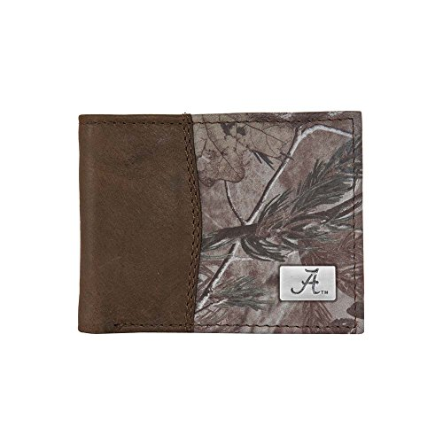 Alabama Leather / Camo Bifold Wallet by Eagles Wings