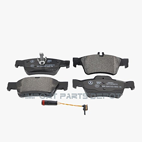 Rear Brake Pads Pad Set OEM Genuine for Mercedes 0074201020 + Sensor 2115401717 (VIN#REQUIRED) (01 Rear Oe Oem Brake)