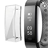 Soft TPU Protective Case for Fitbit Alta Screen Protector, Ultra-Thin Anti-Fall Plated Full Cover Frame Bumper Sport Protective Case Cover for Fitbit Alta (Clear)