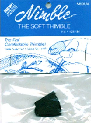 Brand New Leather Nimble Thimble W/Metal Tip-Medium Brand New (Thimble Nimble)