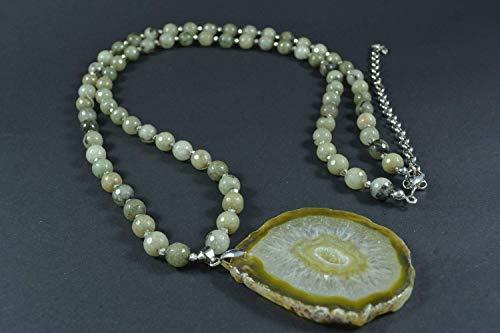 Quartz Smoky Green Necklace (Handmade Smoky Quartz Necklace)
