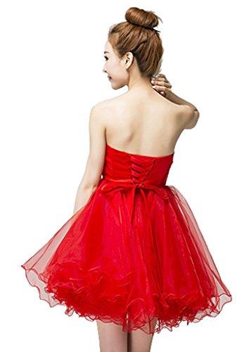 Kleid Drasawee Bandeau Drasawee Damen Bandeau Rot Kleid Damen Rot 4agdnxq