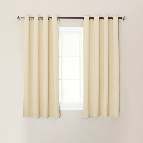 126 Cashmere (Best Home Fashion Thermal Insulated Blackout Curtains - Stainless Steel Nickel Grommet Top - Beige - 52