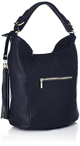 e Shoppers Zara Donna Bags4less Blu dunkelblau spalla a borse 6fZSwqT