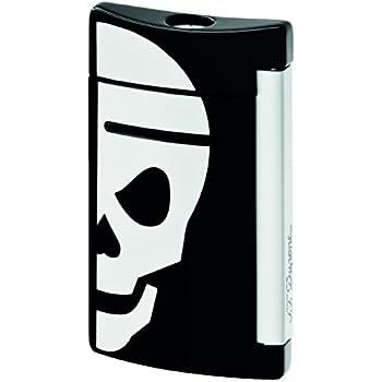 ST Dupont MiniJet Black White Skull Lighter