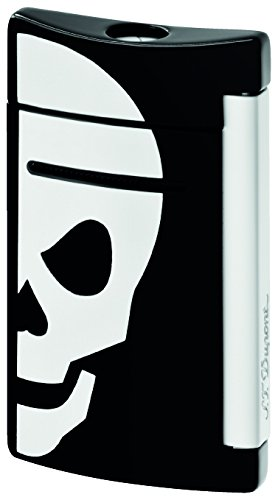 ST Dupont MiniJet Black White Skull Lighter by S.T. Dupont