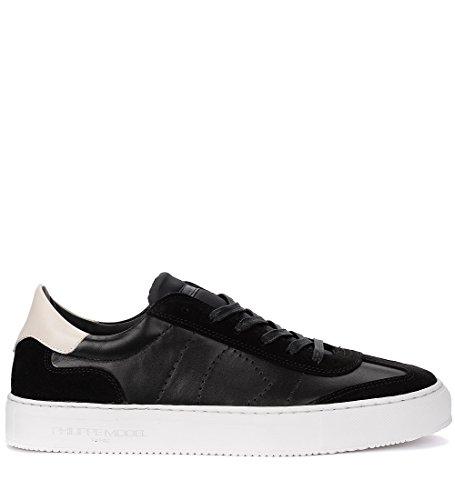 Comercializable En Venta 2018 Nueva Philippe Model Sneaker Belleville in Pelle e Suede Neri Nero Comprar Barato Footaction 959HJ0