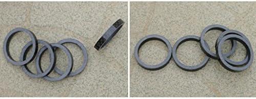 カーボンファイバー 3mm スペーサー 1 1/8インチ ステム バイク 自転車 フォーク ヘッドセット ウォッシャー用