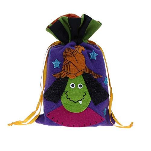 Star-Five-Store - Halloween Non-woven Cloth Handbag Kids Pumpkin Gift Sugar Drawstring Bag Children Gift Bunched Bundle Mouth Candy Bag