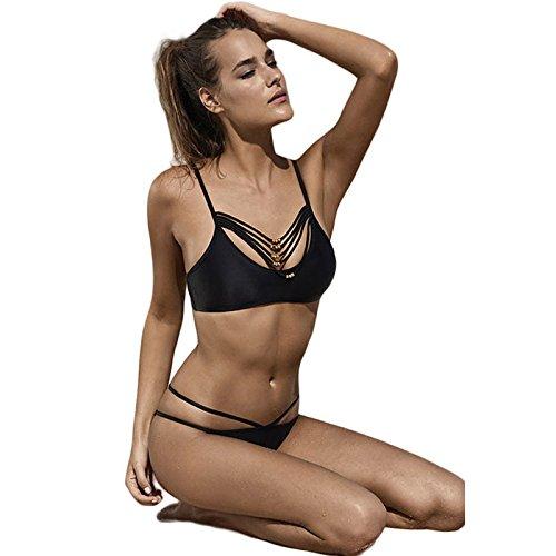 XX&GXM  Frauen Badeanzug Niedrige taille verband Strand Bikini