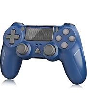 Wireless Controller for PS-4, YAEYA Gamepad Joystick Wireless Remote Pro Controller for PS-4/PRO/SLIM with Motion Motors and Built-in Audio Function, NOT-OEM (Blue)
