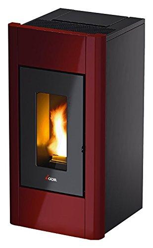 Estufa a PELLAS Cadel Sweet 6,5 kW/156 m3 Profundidad 48,5 cm rojo burdeos: Amazon.es: Bricolaje y herramientas