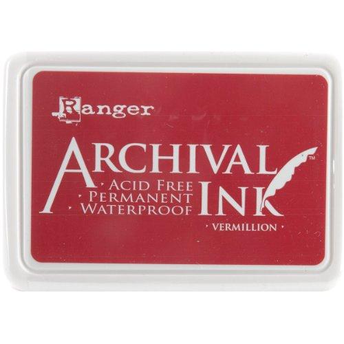 Ranger AIP-30461 Archival Inkpad, Vermillion (Pearl Stamp Pad)