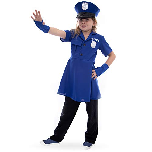 Boo! Inc Proud Police Officer Children's Halloween Costume | Policewoman Dress Up, -