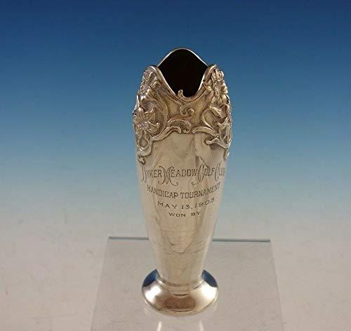 Sterling Vase - Lily by William Kerr Sterling Silver Vase/Trophy Dyker Meadow Golf Club #2910