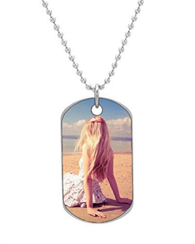 Belle Rose Collier Dog Tag Valentines Romantique Porte-clés Color28