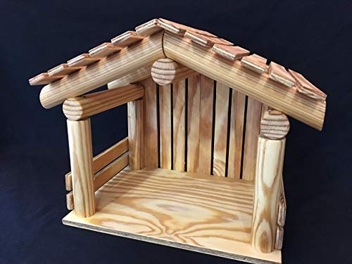 Nativity Stable, Manger,Creche, Primitive wood stable, Christmas displays