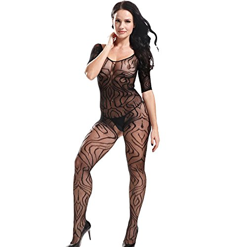 GEBDSM-Women-Black-Sexy-Open-Crotch-Corset-Body-Stocking-Bodysuit-Tights-Lingerie-Coverall-Sex-Romper-Sleepwear-Perspective-Slim-Jumpsuit
