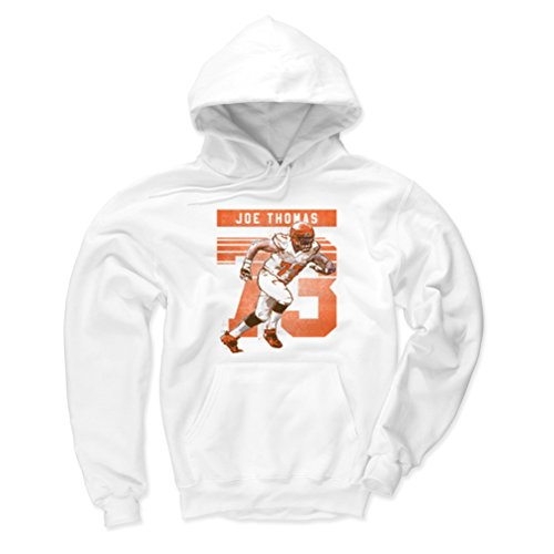 White Browns Cleveland Fleece (500 LEVEL Cleveland Browns Men's Hoodie - XXX-Large White - Joe Thomas Retro O)