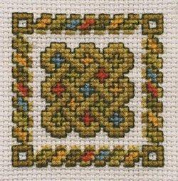 Celtic Knot Card Kit - Green - Cross Stitch Kit