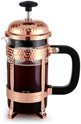 オフィスコーヒープレッサーティーポット フレンチプレスポットコーヒーポット家庭用フィルタープレスティーポット手作りのコーヒー器具ホームエッセンシャル (色 : ゴールド, サイズ : 350ml)