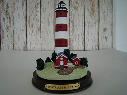 Rustic & Primitive Crafting Supplies (B) Manufactured to Look Antique Assateague Island Lighthouse Figurine ~ Light House VA Inspiration for A Project